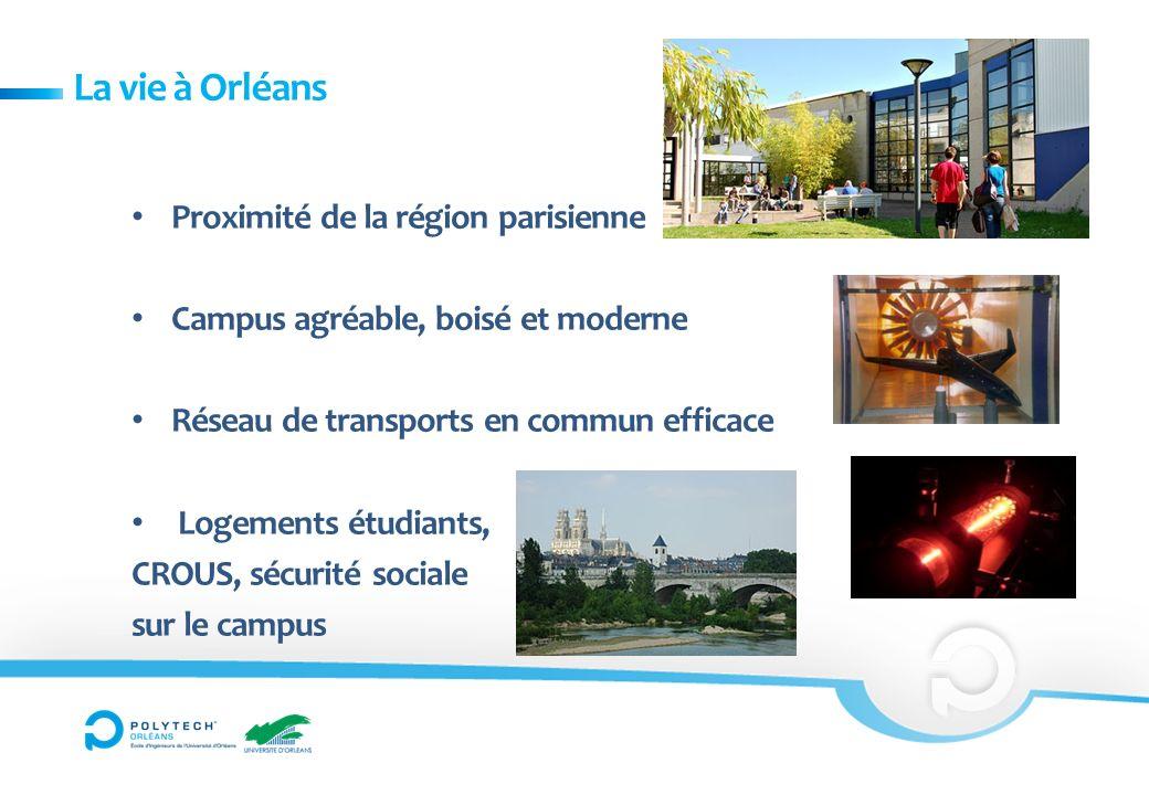 La vie à Orléans Proximité de la région parisienne Campus agréable, boisé et moderne Réseau de transports en commun efficace Logements étudiants, CROU