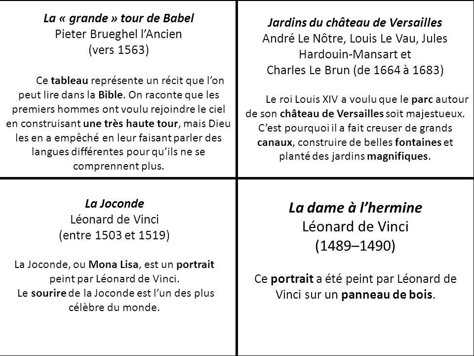 Jardins du château de Versailles André Le Nôtre, Louis Le Vau, Jules Hardouin-Mansart et Charles Le Brun (de 1664 à 1683) Le roi Louis XIV a voulu que