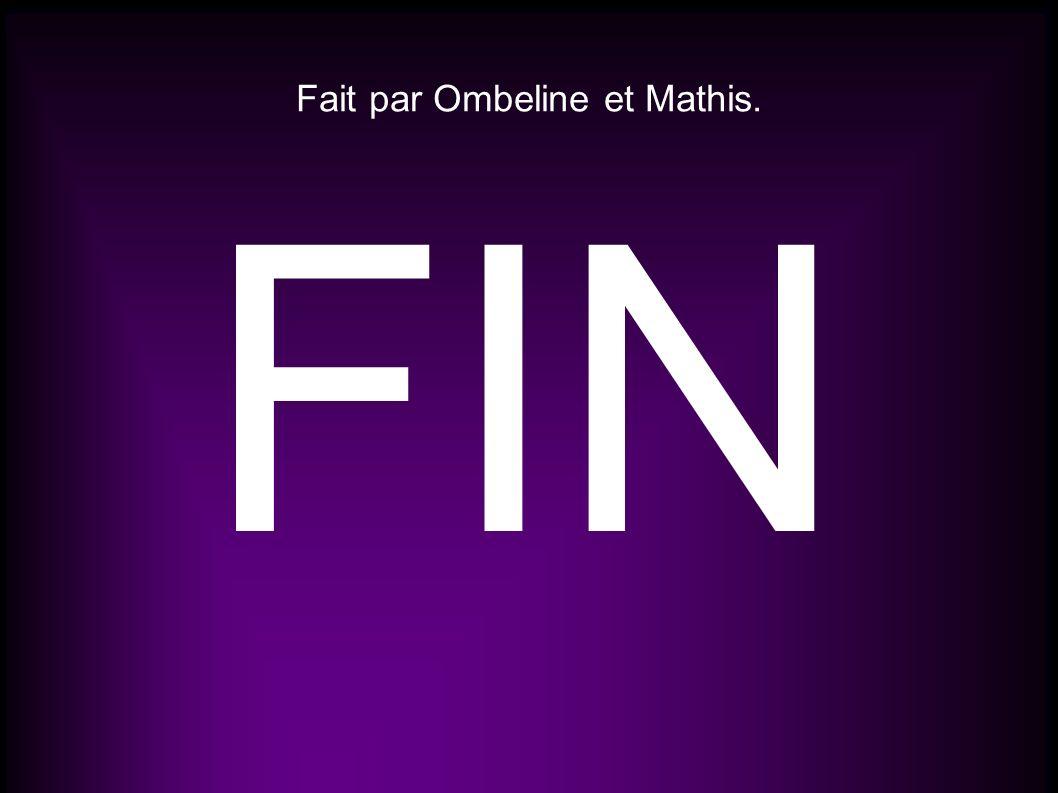 Fait par Ombeline et Mathis. FIN