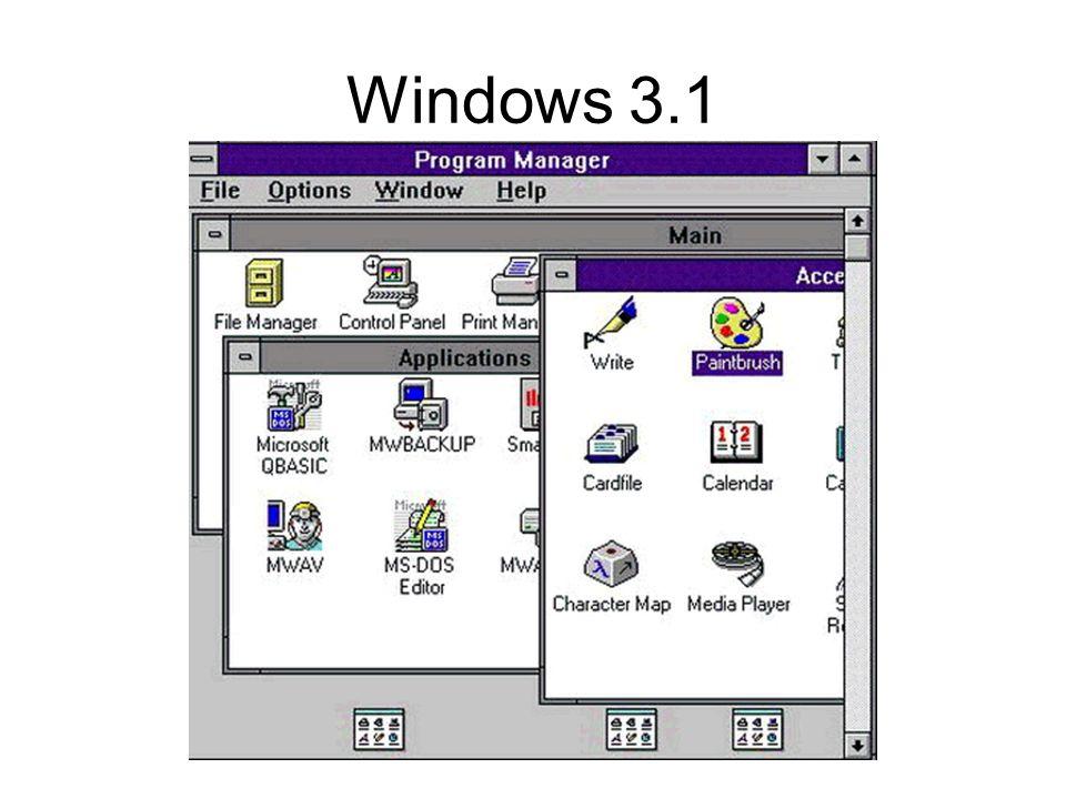Windows 95 Interface graphique senrichit de fonctions ms-dos Mais toujours DOS-16 bits FAT16 (noms courts)