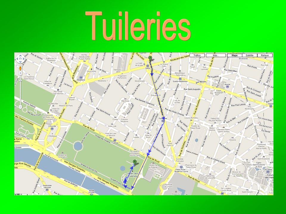 La construction du Palais de les Tuileries a été en 1570.