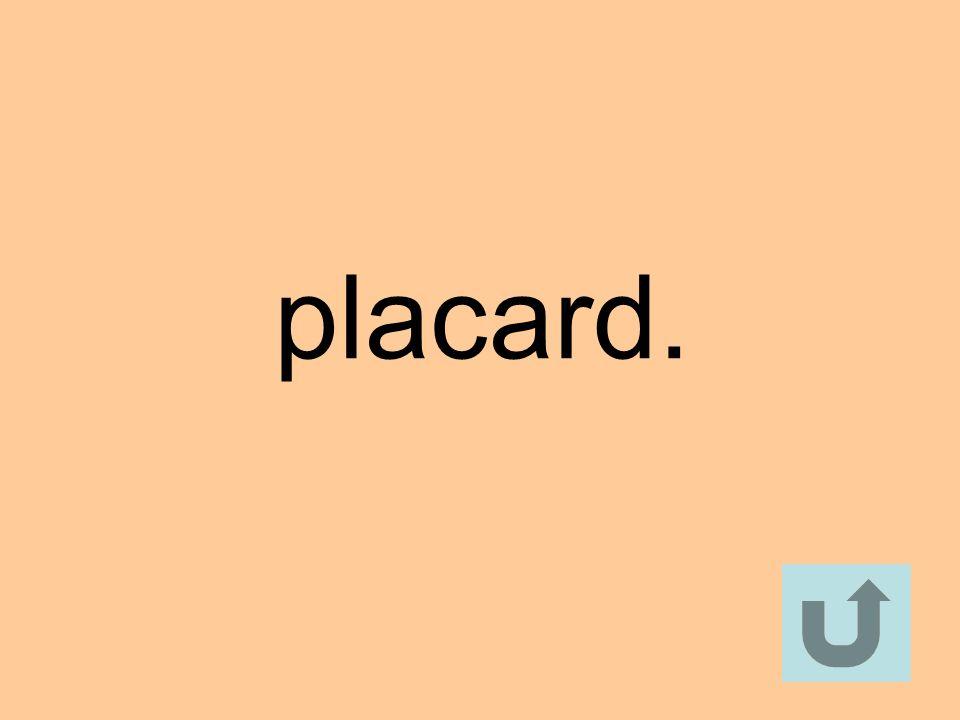 placard.