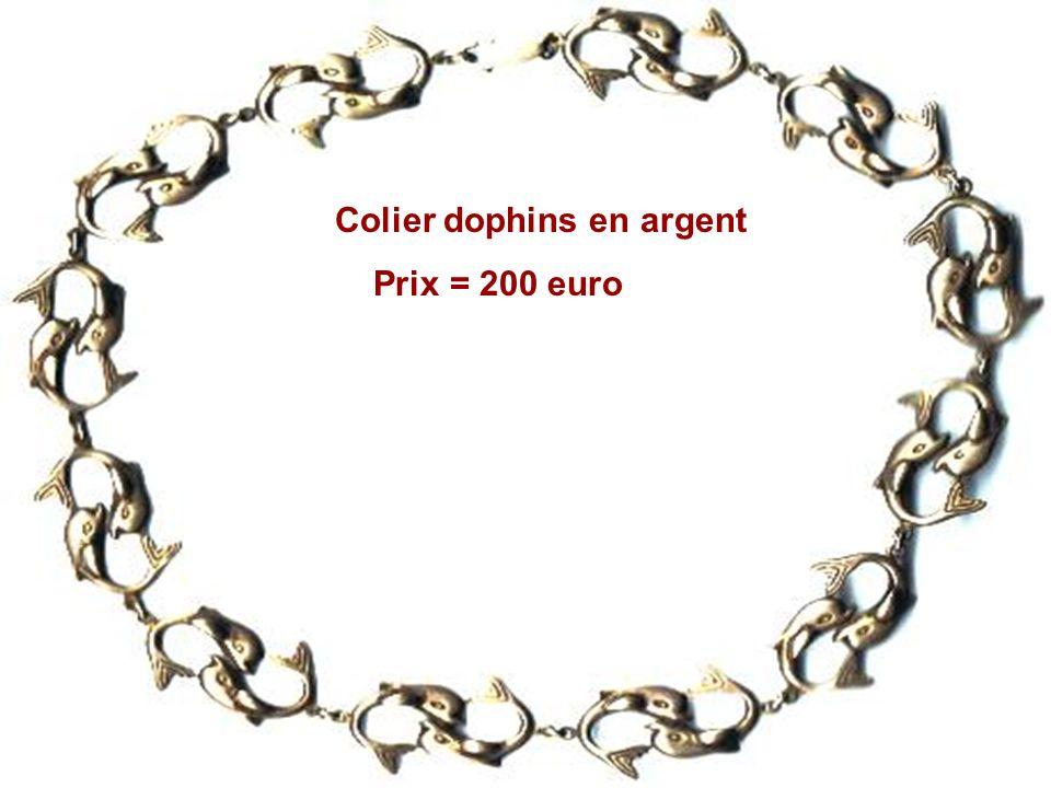 Colier dophins en argent Prix = 200 euro