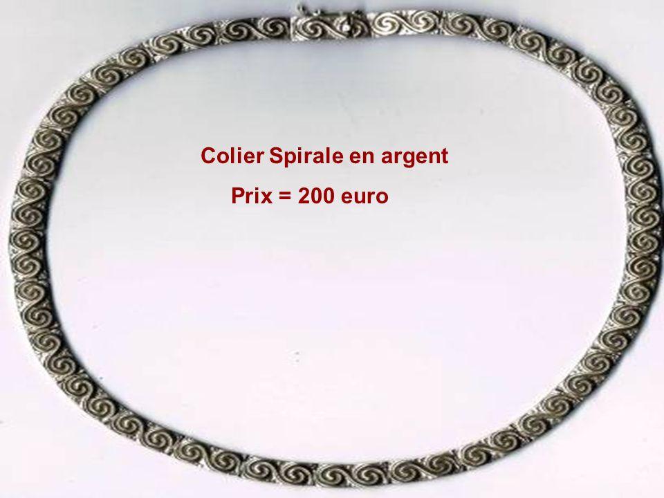 Colier Spirale en argent Prix = 200 euro