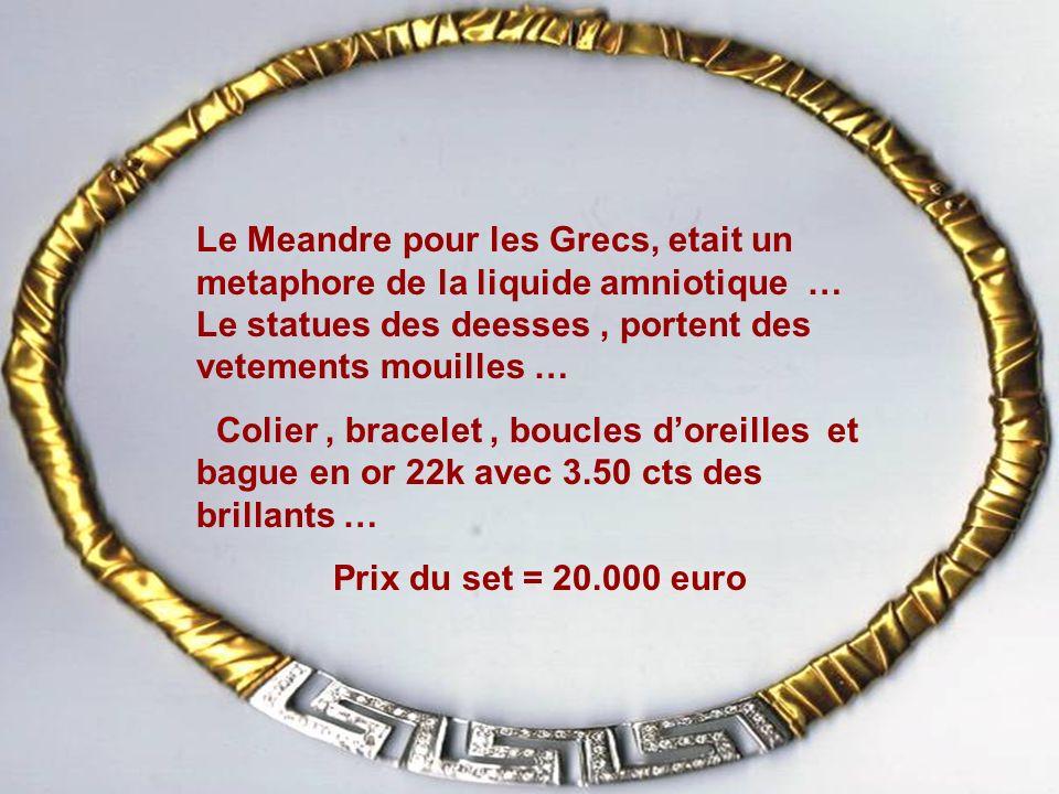 Colier venus en Or gris 18 k et topazes bleus.Prix = 1200 euro