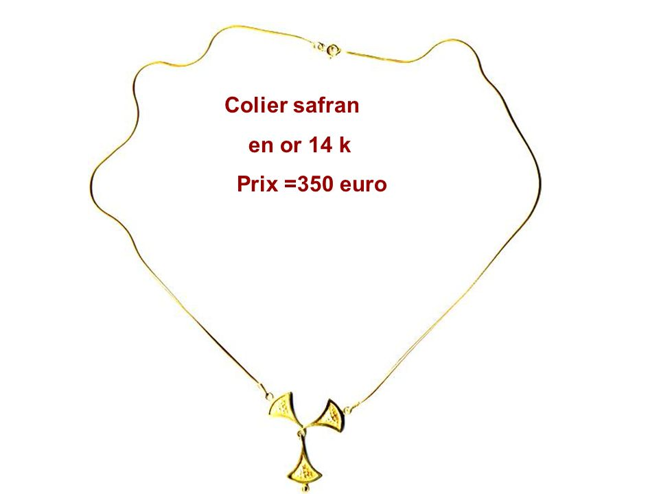 Colier en argent et en argent dorePretresee Prix = 180 euro