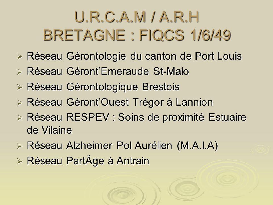 U.R.C.A.M / A.R.H BRETAGNE : FIQCS 1/6/49 Réseau Gérontologie du canton de Port Louis Réseau Gérontologie du canton de Port Louis Réseau GérontEmeraud