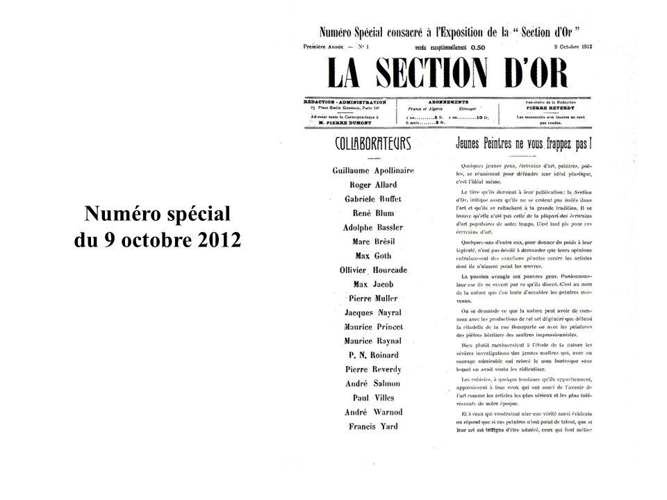 Numéro spécial du 9 octobre 2012