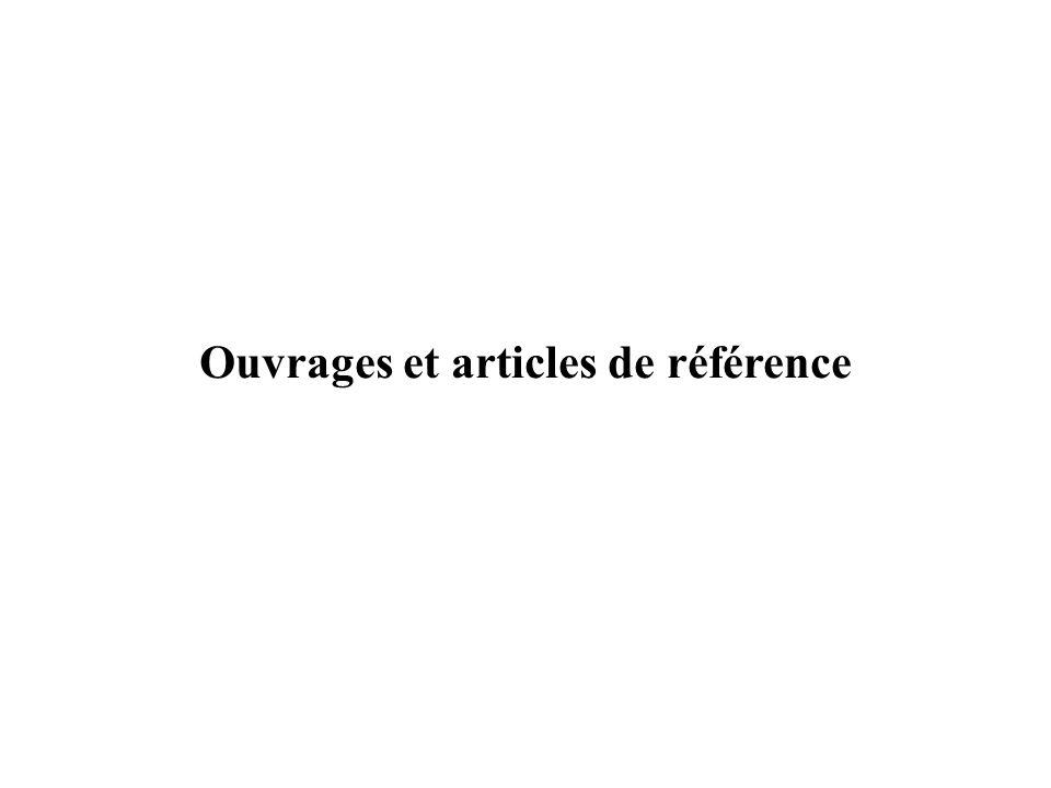 Ouvrages et articles de référence