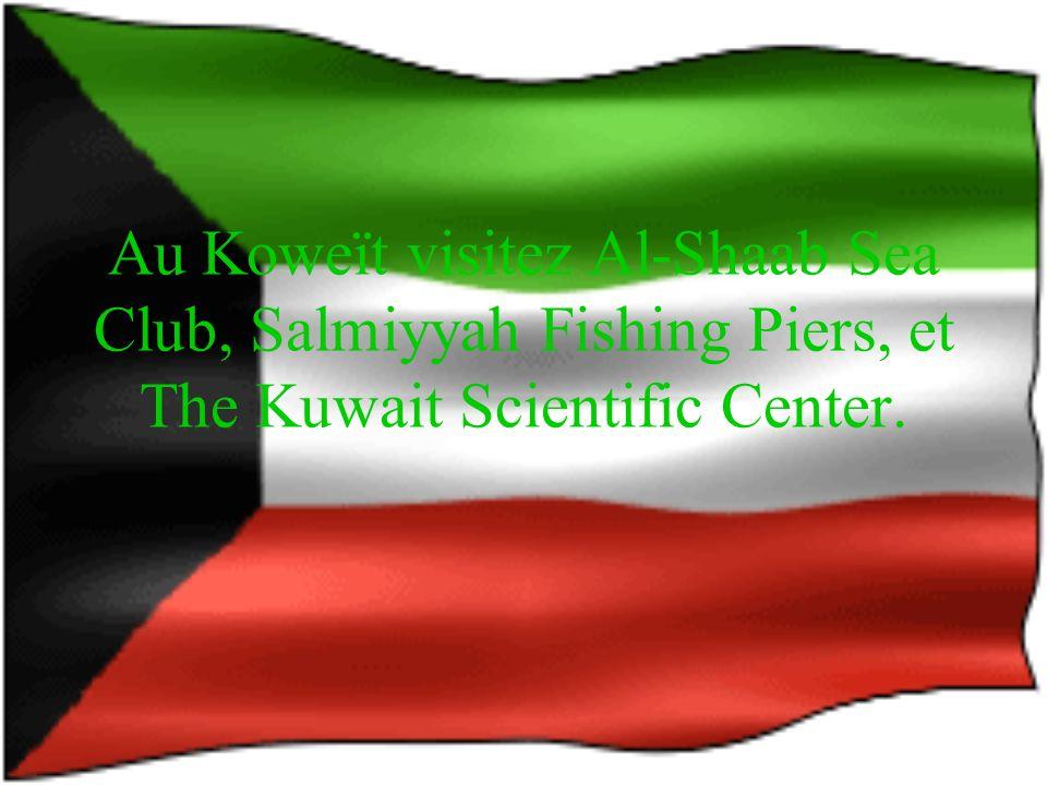 Au Koweït voyagez en avions, helicopter, et voiture.