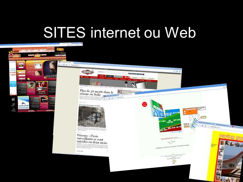SITES internet ou Web