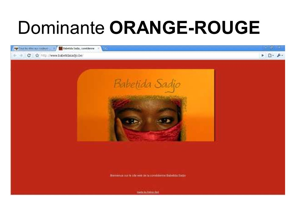 Dominante ORANGE-ROUGE