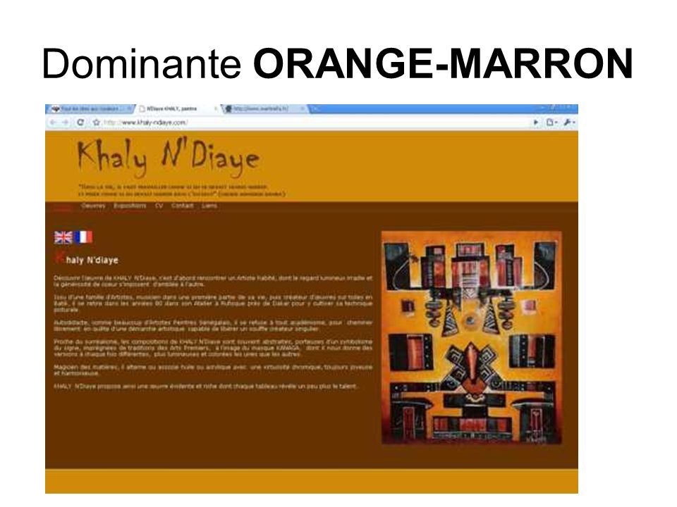 Dominante ORANGE-MARRON