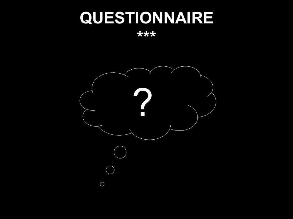QUESTIONNAIRE *** ?