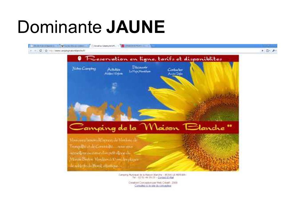 Dominante JAUNE-ORANGE