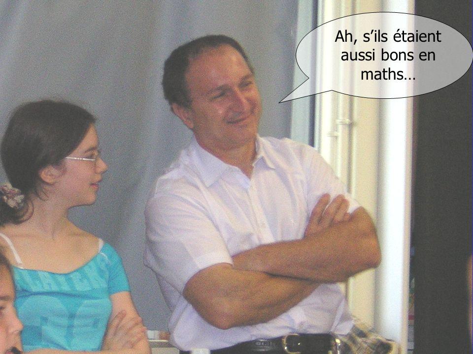 Au collège, tout commence par des discours Ah, sils étaient aussi bons en maths…