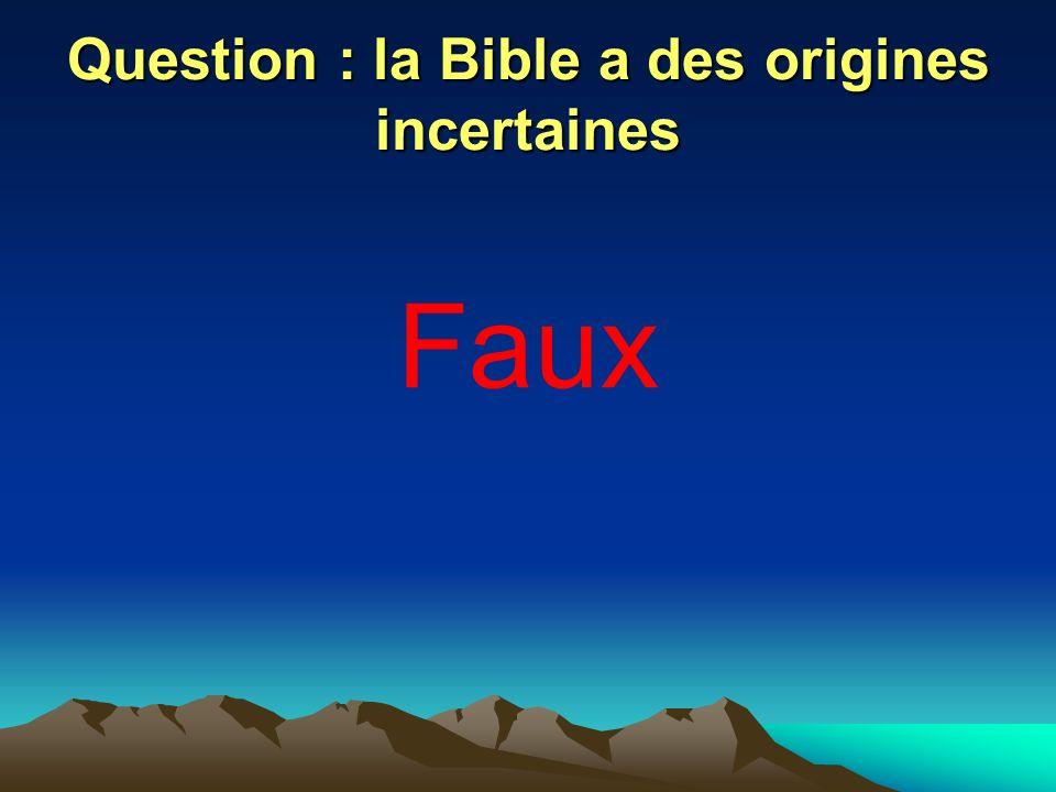 Question : selon la Bible, « on ira tous au paradis » Faux