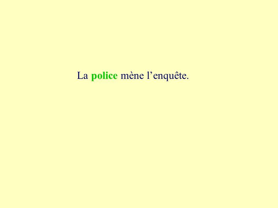 2a police peau lisse police La mène lenquête.