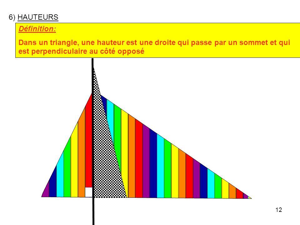 11 Construire un triangle MNP tel que MN = 9cm MP = 11 cm et M = 40° puis les trois médianes 40° P 11 cm M N 9 cm Les médianes d'un triangle sont conc