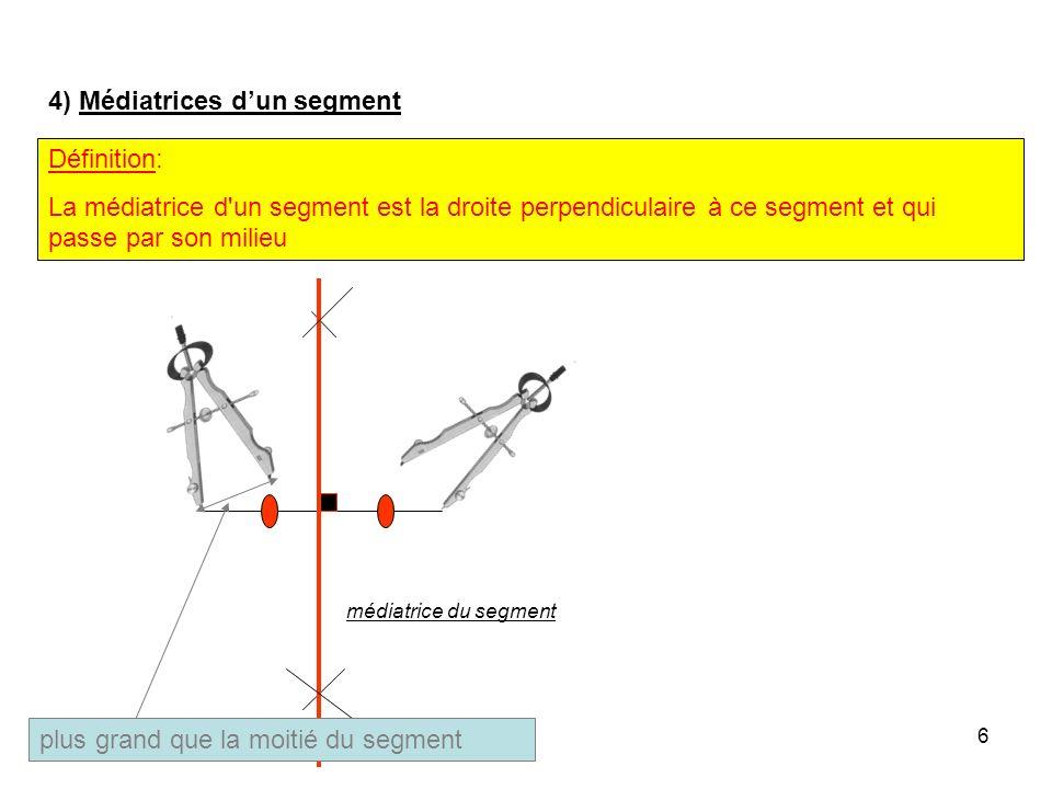 5 3) Somme des mesures des angles dun triangle. Propriété: Dans un triangle, la somme des mesures des angles est égale à 180°