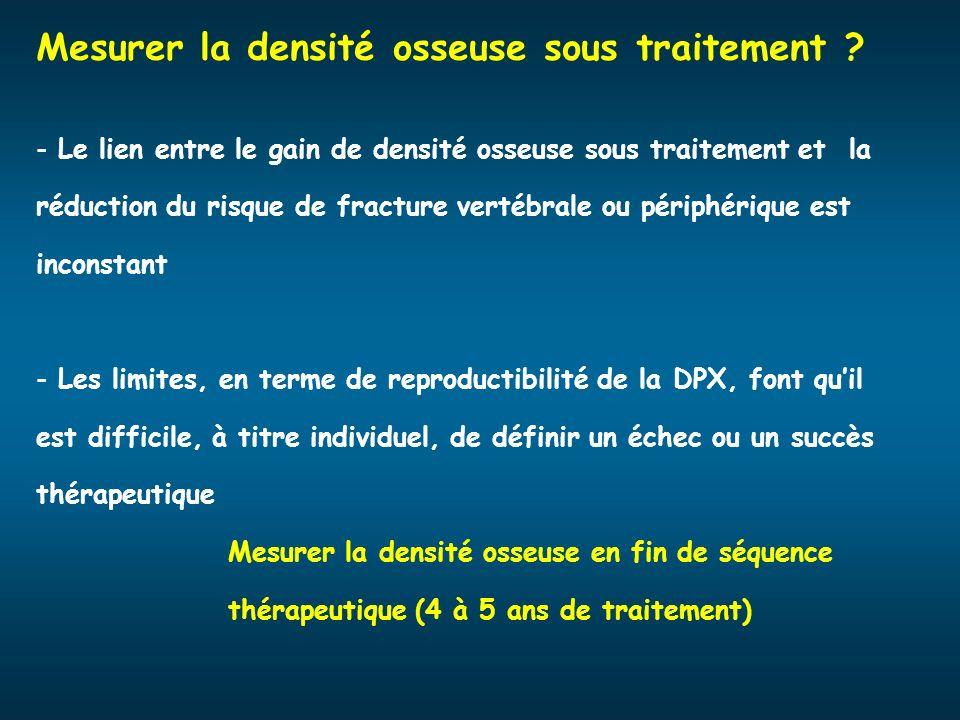 Mesurer la densité osseuse sous traitement ? - Le lien entre le gain de densité osseuse sous traitement et la réduction du risque de fracture vertébra