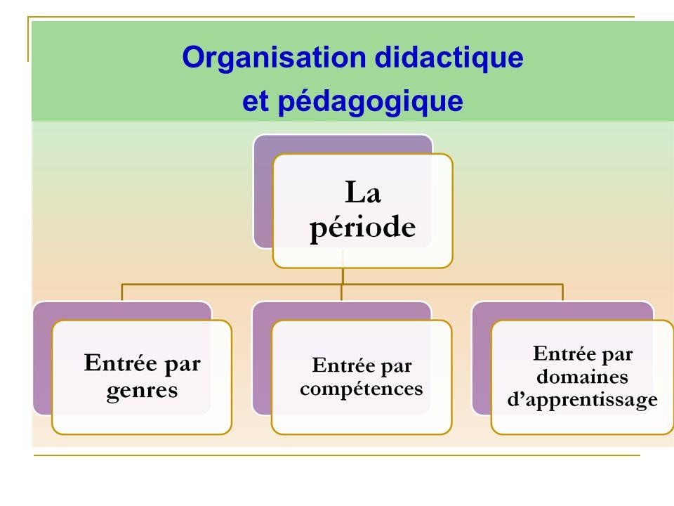Organisation didactique et pédagogique