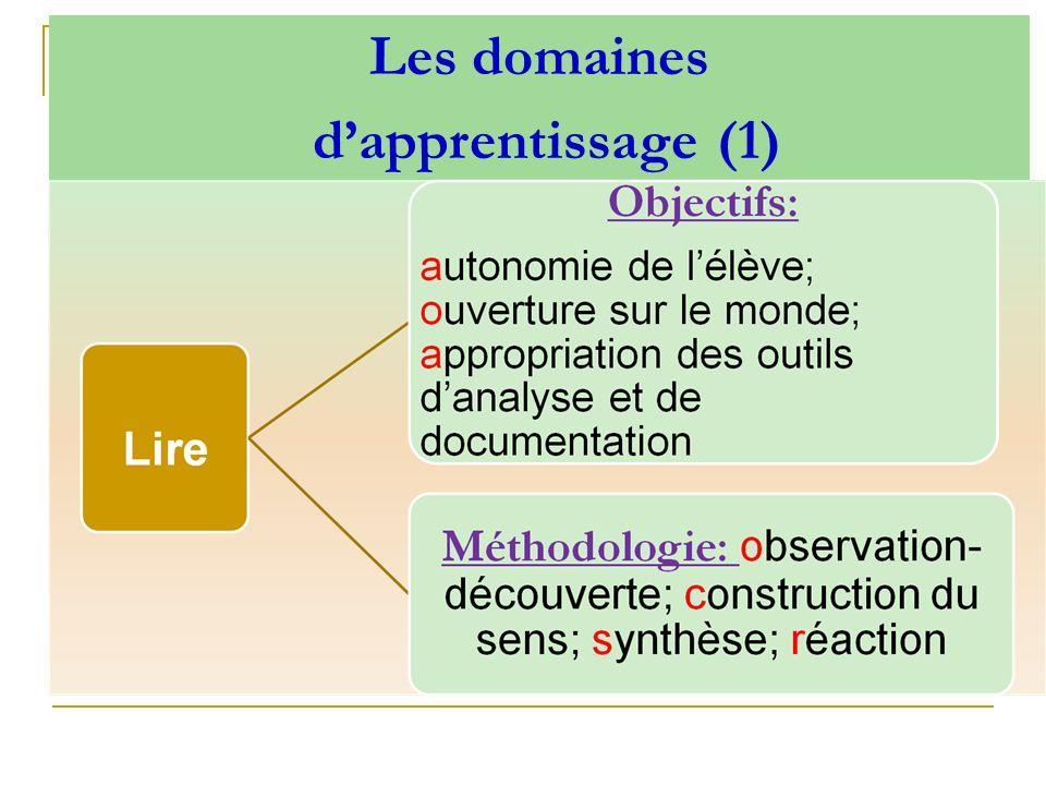 Les domaines dapprentissage (1)