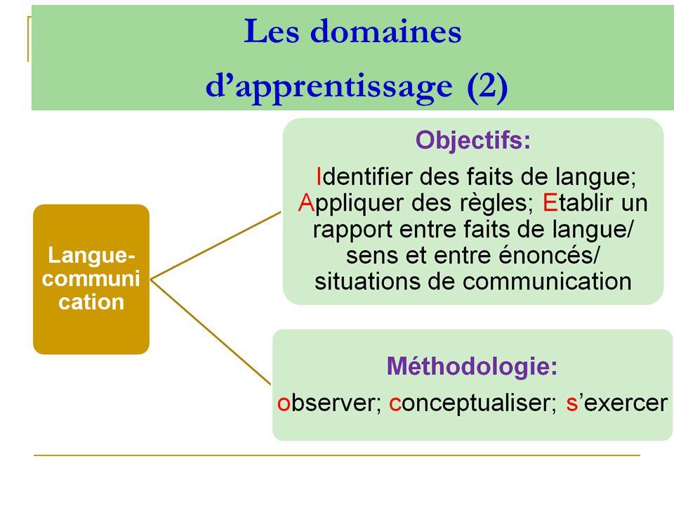 Les domaines dapprentissage (2)