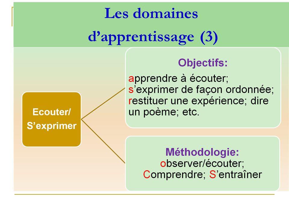 Les domaines dapprentissage (3)