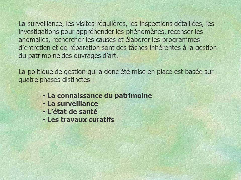 II - LA CONNAISSANCE DU PATRIMOINE La première phase lors de la mise en place de la cellule a donc été le recensement des ouvrages d art appartenant à la Mairie de Toulouse.