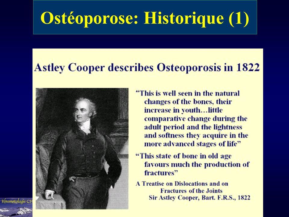 Ostéoporose: Historique (1)