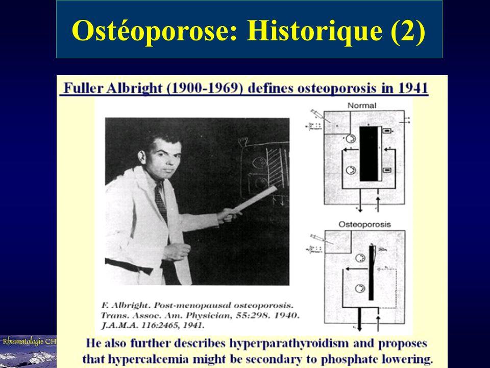 Ostéoporose: Historique (2)
