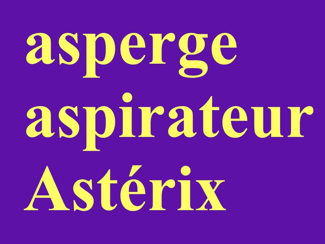 asperge aspirateur Astérix
