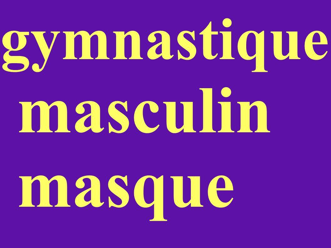 gymnastique masculin masque
