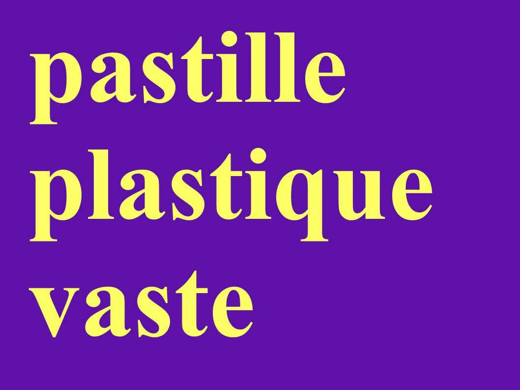 pastille plastique vaste