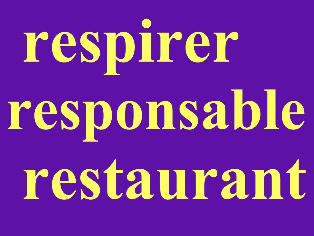 respirer responsable restaurant