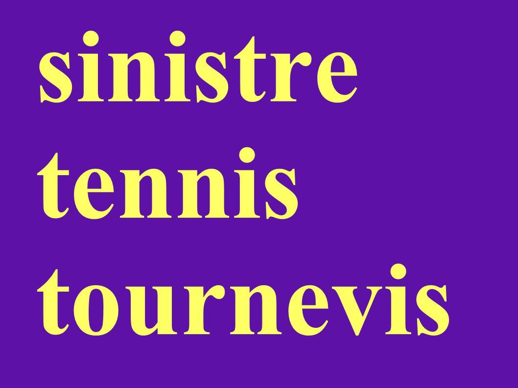 sinistre tennis tournevis