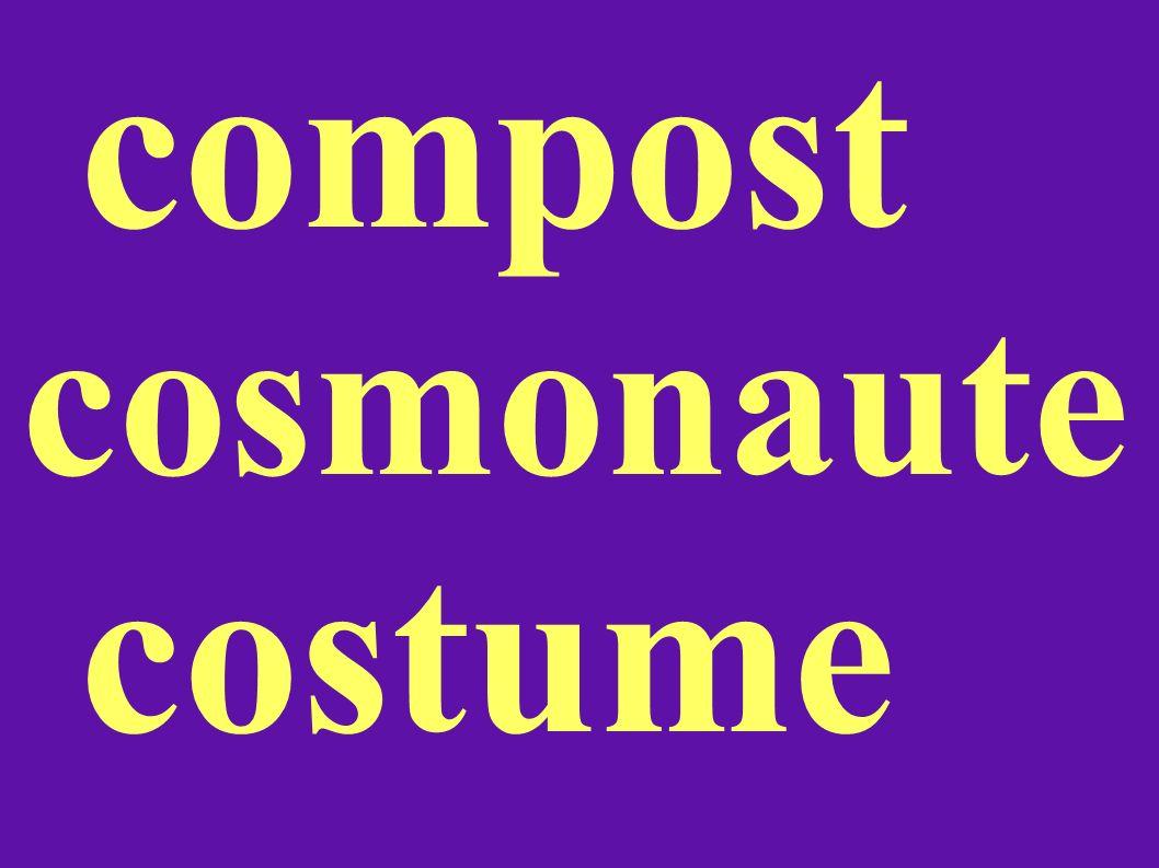 compost cosmonaute costume