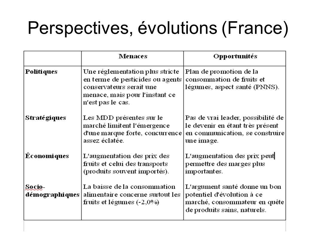 Perspectives, évolutions (France)