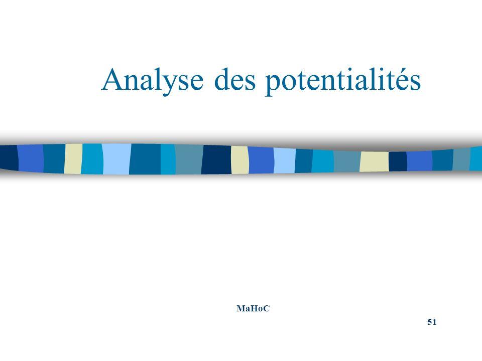 Analyse des potentialités MaHoC 51