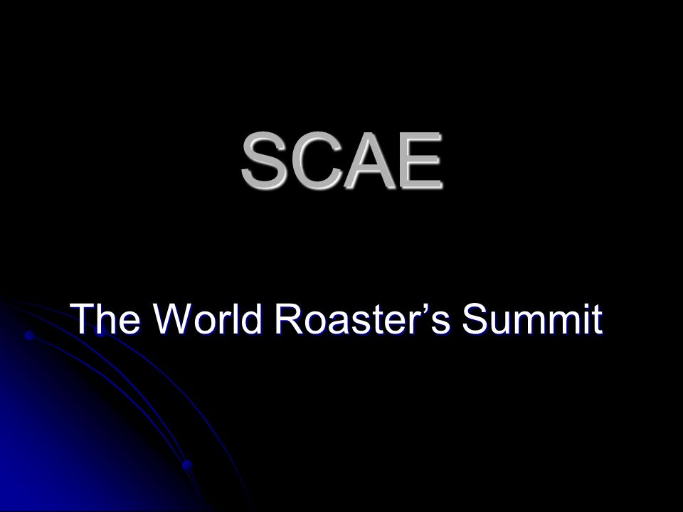 SCAE The World Roasters Summit