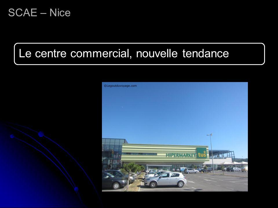 Le centre commercial, nouvelle tendance SCAE – Nice