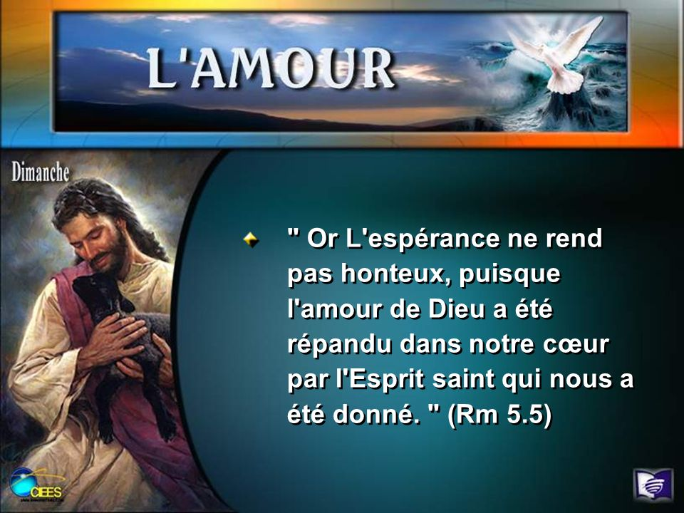 Pourquoi à votre avis, Paul a-t-il cité l amour comme le premier fruit de l Esprit dans Ga 5.22 .
