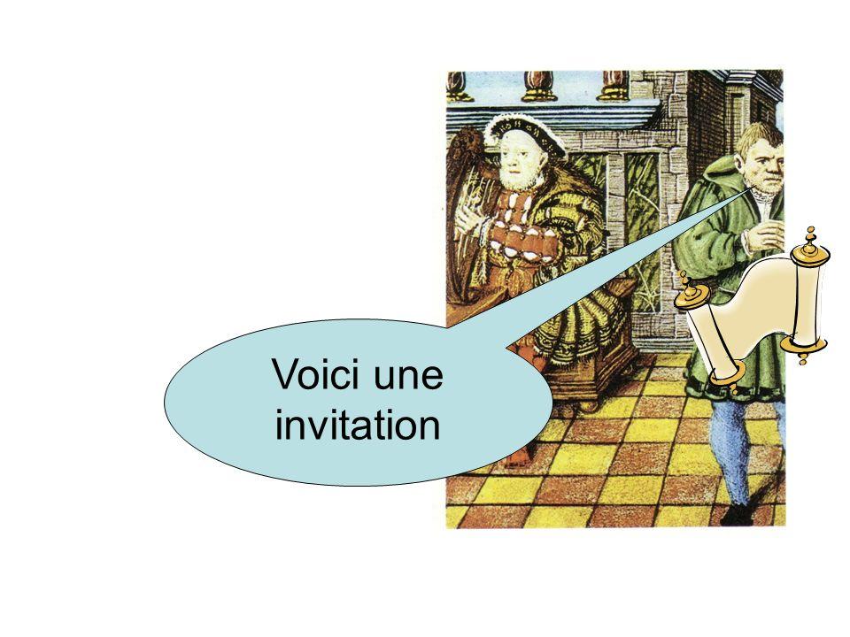 Voici une invitation