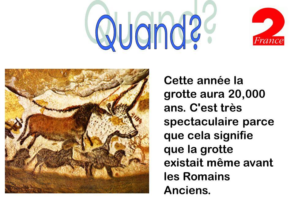 La grotte de Lascaux est dans le sud ouest de la France.