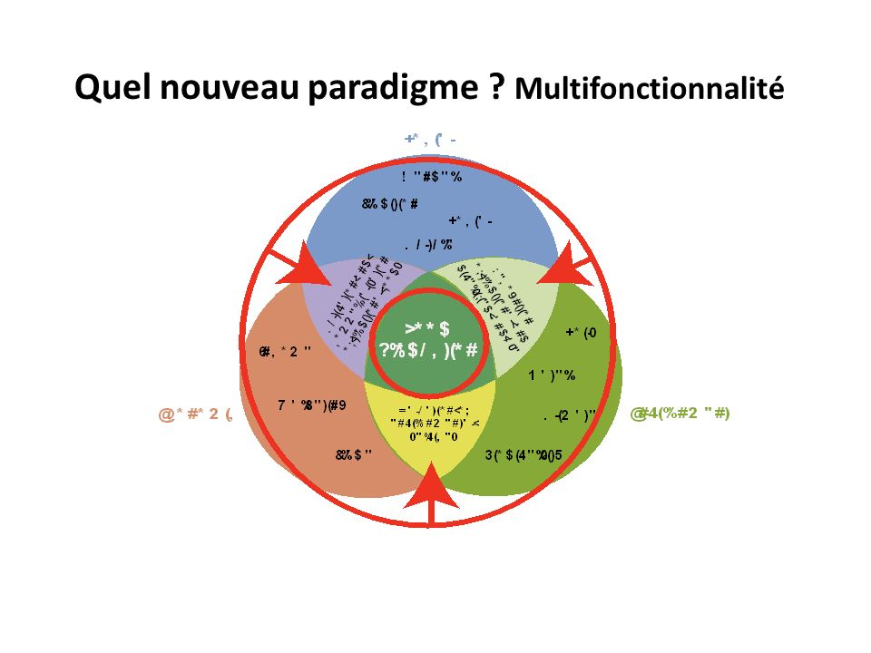 Quel nouveau paradigme ? Multifonctionnalité