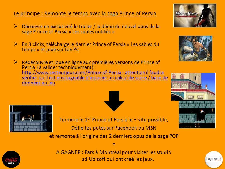 Le principe : Remonte le temps avec la saga Prince of Persia Découvre en exclusivité le trailer / la démo du nouvel opus de la sage P rince of Persia