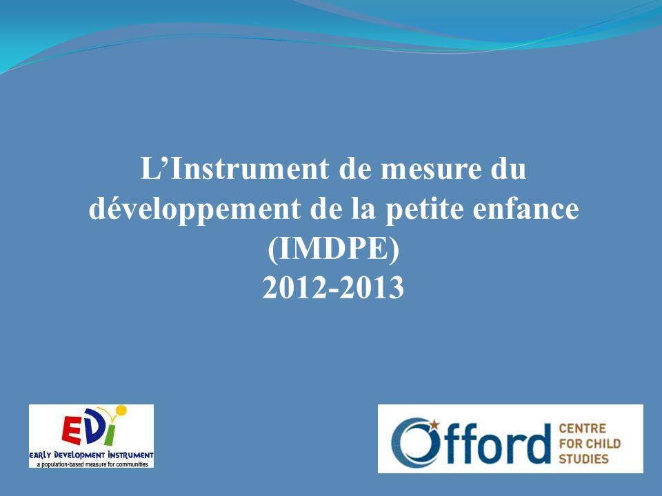 LInstrument de mesure du développement de la petite enfance (IMDPE) 2012-2013