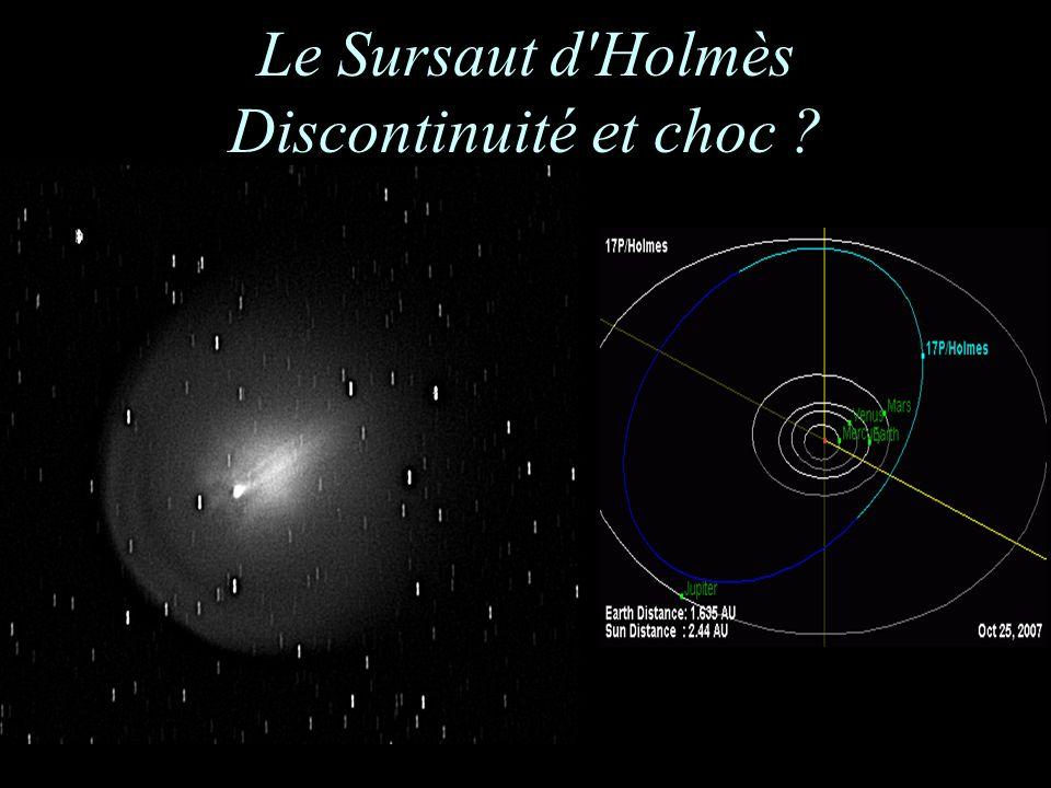Le Sursaut d'Holmès Discontinuité et choc ?