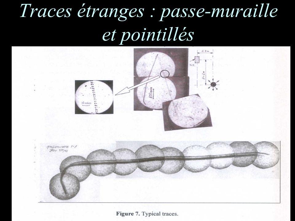 Traces étranges : passe-muraille et pointillés